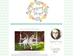 Like the colors and logo Blog Design Inspiration, Blog Love, Blogger Templates, Blogger Themes, Web Design, Place Card Holders, Spring, Handmade Gifts