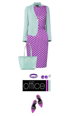 Office outfit: Lilac - Mint by downtownblues on Polyvore featuring polyvore fashion style even&odd Belk & Co. Andrew Hamilton Crawford Vivienne Westwood clothing Spring polkadot officewear polkadotdress spring2016