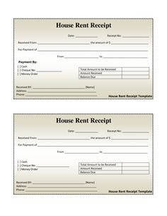rent receipts | Click on the download button to get this House ...