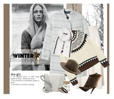 """""""A cold wind is blowing"""" by laste-co ❤ liked on Polyvore featuring MANGO, Temperley London, Giuseppe Zanotti, Rebecca Taylor, J.Crew, BeckSöndergaard, rag & bone, Vince, Bella Freud and M. Cohen"""