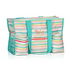My beach bag, pattern to match the cooler I pinned Zip-Top Organizing Utility Tote
