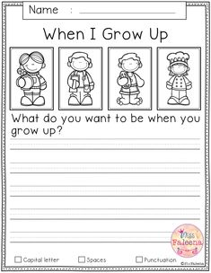 Free Writing Prompts contains 20 free pages of writing prompts worksheets. This product is suitable for kindergarten and first grade students. Narrative Writing Prompts, Kindergarten Writing Prompts, Teaching Writing, Kindergarten Worksheets, Writing Activities, Writing Skills, First Grade Writing Prompts, Story Prompts, Writing Practice