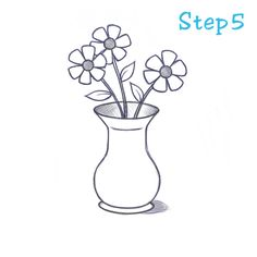Drawing roses step by step daryl hobson artwork how to draw a flowers in vase drawing ccuart Images