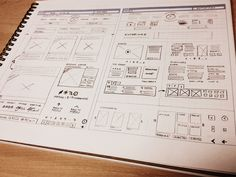 UI & Wireframe Sketches for your Inspiration - Web Design Ledger Web Design, Game Design, Layout Design, Print Design, Graphic Design, Design Thinking, Wireframe Design, Page Web, Information Architecture
