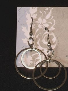 Silver Double Circle Drop Earrings by YouniquelyElegant on Etsy, $6.95