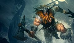 Olaf | League of Legends Most men would say that death is a thing to be feared; none of those men would be Olaf. The Berserker lives only for the roar of a battle cry and the clash of steel. Spurred on by his hunger for glory and the looming curse of a forgettable death, Olaf throws himself into every fight with reckless abandon. Surrendering to the bloodlust deep within his being, Olaf is only truly alive when grappling with the jaws of death.