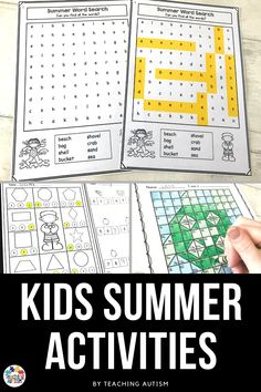 Are you looking for math and literacy resources to use throughout summer school? Or even with your kids at home? This pack of resources is perfect for kindergarten, first grade and special education students to help prevent the summer slide! Summer School Activities, End Of Year Activities, Literacy Activities, Teaching Resources, Kindergarten Lesson Plans, Teaching Kindergarten, Summer Words, Summer Slide, Autism Classroom