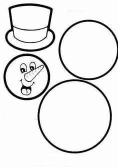 Snowman Parts Outline Template Christmas Applique, Christmas Projects, Winter Christmas, Kids Christmas, Snowman Crafts, Holiday Crafts, Hello Winter, Winter Project, Winter Crafts For Kids