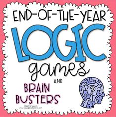I created these games as a fun activity to give to your students at the end of the year (or anytime for enrichment). The games ask your students to solve some problems that might pop up at the end of the year. 4th Grade Classroom, Middle School Classroom, Physics Classroom, Logic Puzzles, Word Puzzles, End Of Year Activities, Fun Activities, Logic Problems, Summer Words