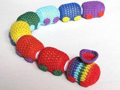 Rainbow Train-rattle, Crochet Train, Handmade toys, Crochet toys, Development toy, Toddler toys, Baby toys