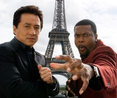 "Jackie Chan et Chris Tucker devant la Tour Eiffel pour la promotion du film ""Rush Hour - 2007 - Paris - France - Jackie Chan and Chris Tucker in front of the Eiffel Tower to promote the film ""Rush Hour - 2007 - Paris - France Chris Tucker, Funny Movies, Great Movies, Hd Movies, Movie Tv, Epic Movie, Comedy Movies, Movies Online, Rush Hour 3"