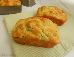 Mini plumcake zucchine e formaggio | Oggi si cucina
