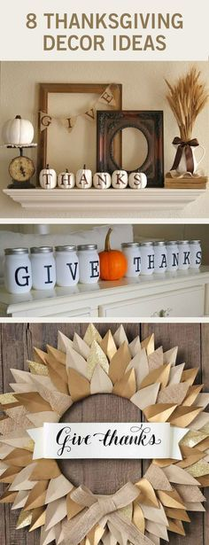 Fall decor is not so easy to come by between the Halloween aisle and the Christmas aisle, so we vote you make your own. These DIY Thanksgiving decorations are gorgeous and so easy to make.