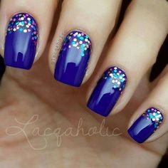 Blue and sparkles