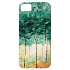 Abstract Landscape Art Trees Forest Painting iPhone 5 Cover    ...BTW,Please Check this out:  http://artcaffeine.imobileappsys.com