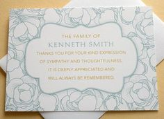 16 Best Funeral Thank You Card Images Funeral Thank You Notes