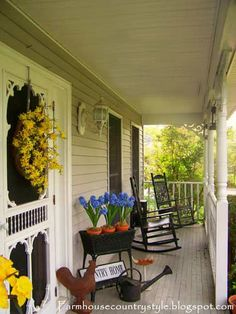 Farmhouse Country Style- I want a wrap around porch!!!