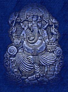 Ganesha - Blue Sketch-M.jpg (335×450)