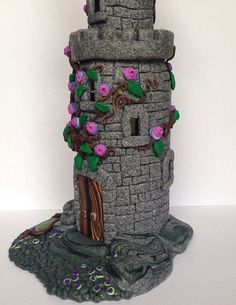 Fairytale Castle 4 Polymer Clay Castle Pink Rose