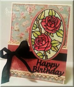Melissa Cash made this beautiful card using the Rose in Oval Peel-offs and Silk Microfine Glitter Warm Diamond.