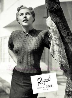 The   Vintage   Pattern   Files: 1940's Knitting - Regal Jumper