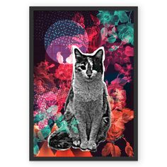 Poster Cosmic Kitty de @jurumple | Colab55