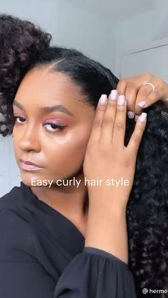 Curly Hair Styles, Curly Hair Tips, Hair Dos, Natural Hair Styles, Work Hairstyles, Baddie Hairstyles, Braided Hairstyles, Professional Natural Hairstyles, Braids For Black Hair