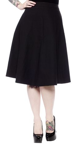SOURPUSS DONNA SKIRT BLACK