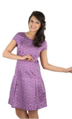 Stylish Lucy Printed Satin Dress