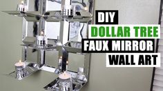 DIY DOLLAR TREE GLAM FAUX MIRROR WALL ART CANDLE HOLDER Easy Z Gallerie Inspired Cheap Mirror Decor - YouTube