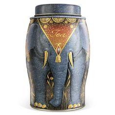 Williamson Tea Large Elephant Caddy Elephant Grey Earl Grey Tea 40 Teabags
