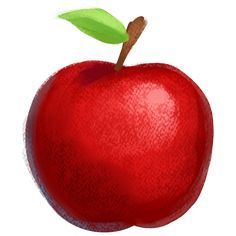 Apple Fruit Red Crayons Drawing transparent image