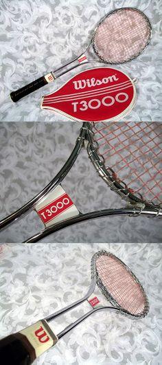 Sold Vtg 1970's WILSON T3000 Jimmy Connors Chrome Tubular Steel Tennis Racket w Cover