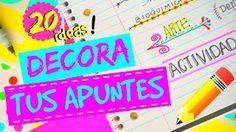 20 IDEAS PARA DECORAR TUS APUNTES! ♥ COMO HACER TITULOS | DECORA TUS CUADERNOS MUY COOL! ! - YouTube