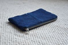Indigo purse blue bag antique fabric zip by EthicalLifeStore