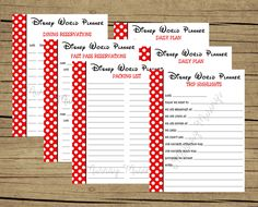 FREE Printable Disney World Vacation Planner - do this same idea but in a notebook that can then become a scrapbook after with notes of all the memories Disney World Tipps, Disney World 2017, Walt Disney World Vacations, Disneyland Trip, Disney World Tips And Tricks, Disney Tips, Disney Fun, Disney Travel, Disney Stuff