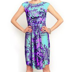 056ee9dcdd Akela Dress Teal Blossom Eva Franco