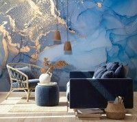 Art Wallpaper Peel and Stick Self Adhesive Marble Wall Mural Removable Abstract Wallpaper Blue Wall Mural Gold Wallpaper Living Room Bedroom Seaside Wallpaper, Gold Wallpaper Living Room, Textured Wallpaper, Wall Wallpaper, Textured Walls, Marble Room, Marble Wall, Kids Room Murals, Wall Murals