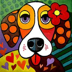 Pop Art Drawings Artworks Ideas For 2019 Wal Art, Arte Pop, Dog Paintings, Whimsical Art, Art Plastique, Rock Art, Art Lessons, Painted Rocks, Art Drawings