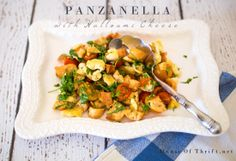 Panzanella with Halloumi Cheese | Easy Appetizer | Healthy Recipe Ideas | House Of Thrift
