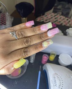 Short Square Acrylic Nails, Square Nails, Dope Nail Designs, Acrylic Nail Designs, Cute Short Nails, Trendy Nails, Dope Nails, Fun Nails, Nail Tips