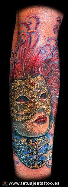 tatuajes de mascaras de teatro