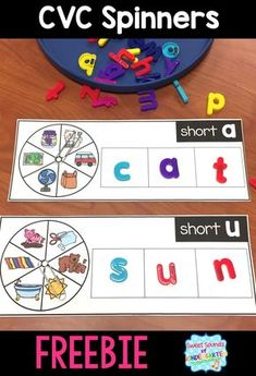I love using magnet letters with my students during small groups! Using these letters to work on building CVC words is such a great way for kiddos to build confidence as early readers. These CVC sp…