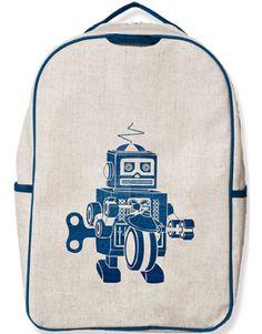 Blue Robot Grade School Backpack, soyoung.ca, $49.99