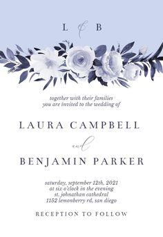 Antoiniette Florals - Wedding Invitation #invitations #printable #diy #template #wedding