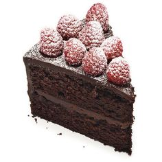 Tender chocolate cake is         layered with raspberry jam and rich chocolate         ganache (a mixture of melted chocolate and         whipping cream) in this great dessert. Fresh         raspberries make a pretty and easy topping.