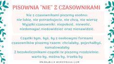 Czasownik od podstaw | Język polski Polish Language, Bujo, Education, School, Fit, Therapy, Literatura, Shape, Onderwijs