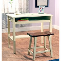 @Overstock.com - Madison Study Set - For productivity even in small spaces, look to this cozy study set from Madison. Ideal for a small dorm room or as a child's study desk, this white-finished desk features plenty of writing, computer, and storage space.  http://www.overstock.com/Home-Garden/Madison-Study-Set/4583329/product.html?CID=214117 $103.88