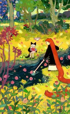 YORIYUKI Pretty Art, Cute Art, Illustrations, Illustration Art, Nostalgic Art, Wow Art, Art Hoe, Hippie Art, Aesthetic Art