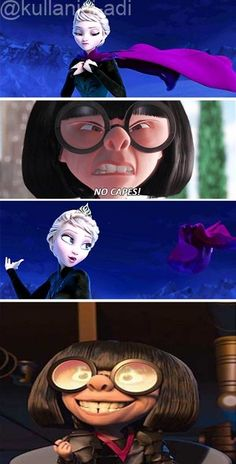 OMG: 20 Hilarious Frozen Memes That Will Make You Laugh Out Loud 〖 Disney Pixar Frozen Elsa The Incredibles Edna no capes funny 〗 Disney Pixar, Film Disney, Disney And Dreamworks, Disney Love, Disney Frozen, Frozen Movie, Frozen Humor, Funny Frozen Memes, Disney Stuff